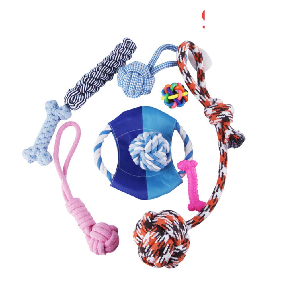 F Dog Toy Interaction and Chewing Cotton Rope Toy bite-Resistant Teeth SuitF