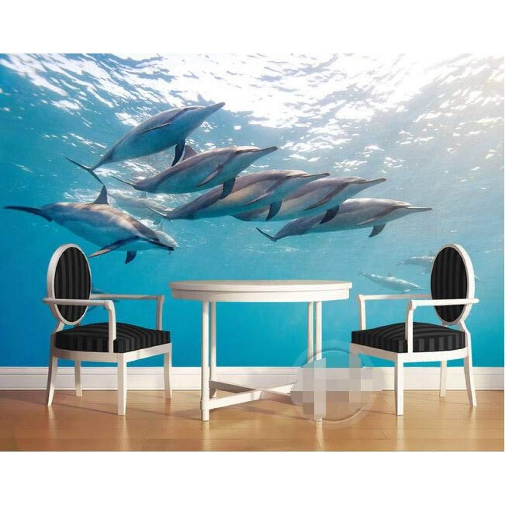 apresurado a ver 350x250cm YYBHTM Papel Tapiz 3D 3D 3D Mural Personalizado No Tejido Papel Tapiz 3D Habitación 3 Días Mar Mundo Delfín Mural Foto 3D Pintura De Parojo Papel Tapiz  hasta 60% de descuento