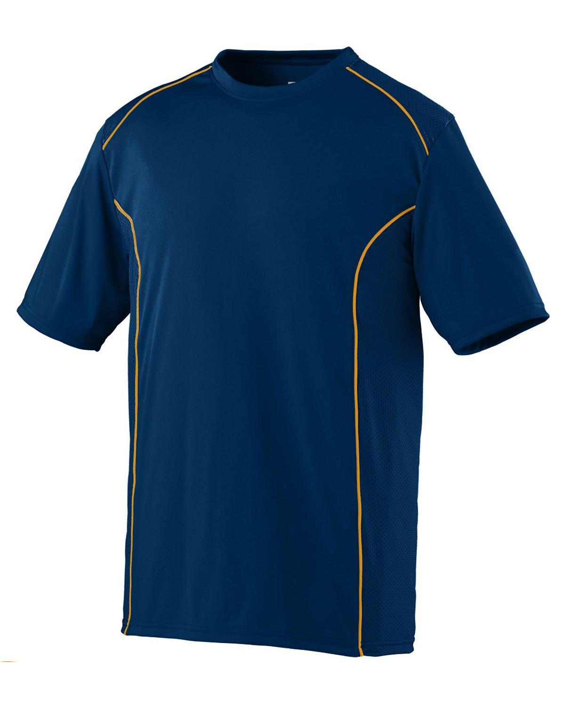 Augusta Sportswear Boys ' Winning Streakクルー B00IUJEMAC Large|ネイビー/ゴールド ネイビー/ゴールド Large