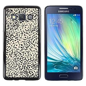 Paccase / SLIM PC / Aliminium Casa Carcasa Funda Case Cover para - Pattern Cheetah Beige Black - Samsung Galaxy A3 SM-A300