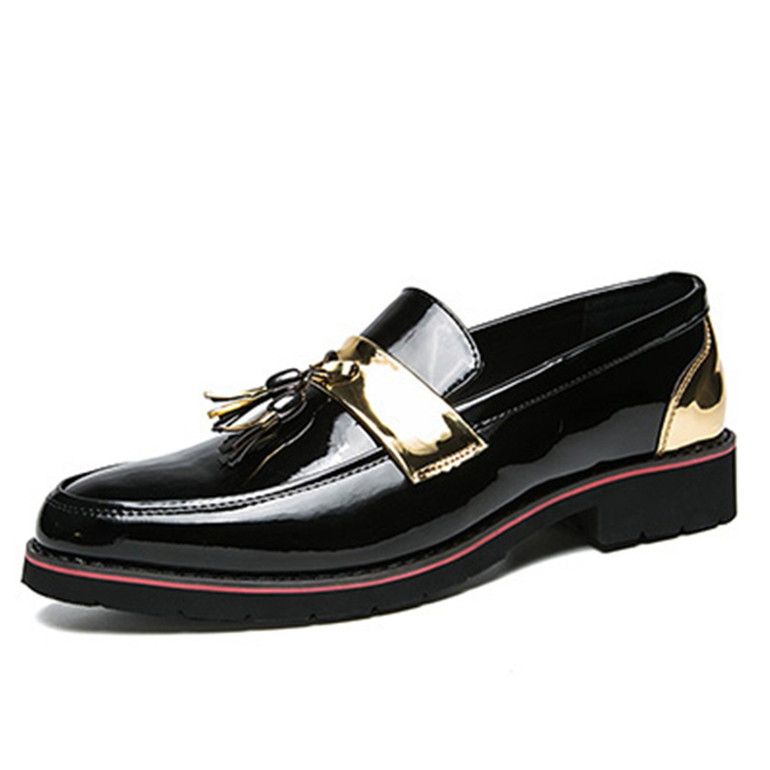 Engineeringed Fashion Tassels Patent PU Leathe Casual Slip Rubber Sole Men Oxfords Shoes