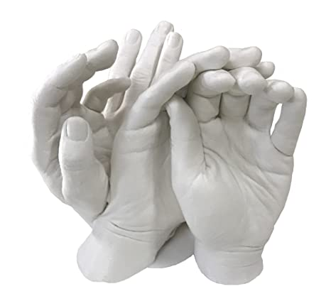 Family Hands Casting Kit  by Vesey Gallery  1 Kilo of Alginate and 4kg of  Stone Plaster
