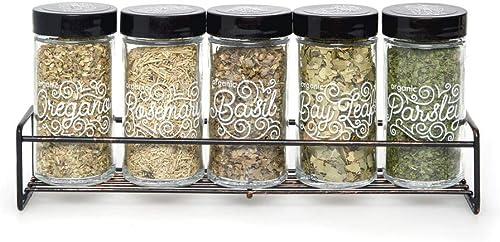 Kamenstein Organic 5 Jar Wire Spice Rack, Bronze