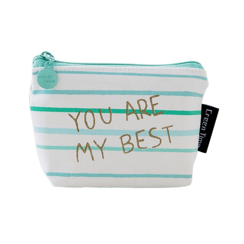 Monbedos Stripe Coin Purse Purse Pouch Bag Women Wallet Coin Bag for Coin,Credit Card,Keys,Headset,Lipstick,Card,Lipstick size 1293.5cm
