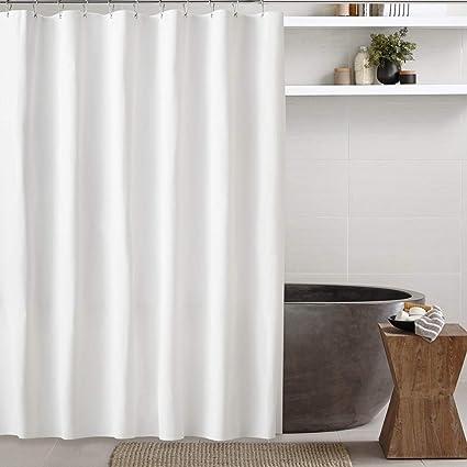 Feagar White Shower Curtain EVA Bathroom Liner72x72 Inch PVC Free