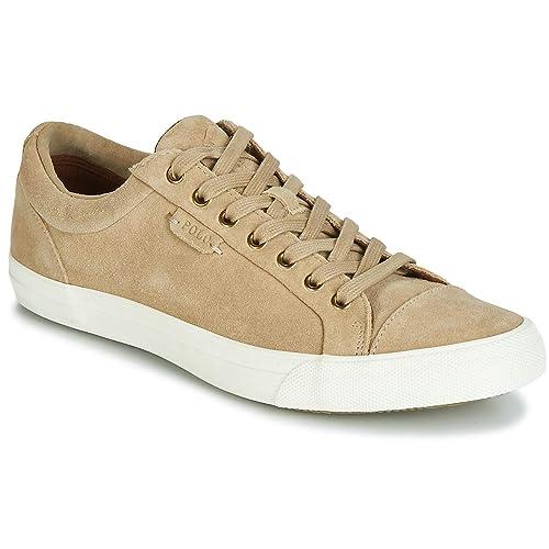 Ralph Lauren - Zapatillas de deporte para hombre, marrón (bronceado), 44 EU: Amazon.es: Zapatos y complementos