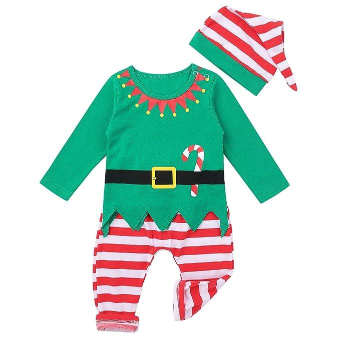 IEFIEL Disfraz Elfo Elfa para Bebé Niño Niña Disfraz de Duende ...