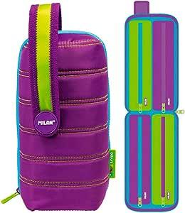 Estuche milan kit 4 estuches con contenido colours lila: Amazon.es: Oficina y papelería