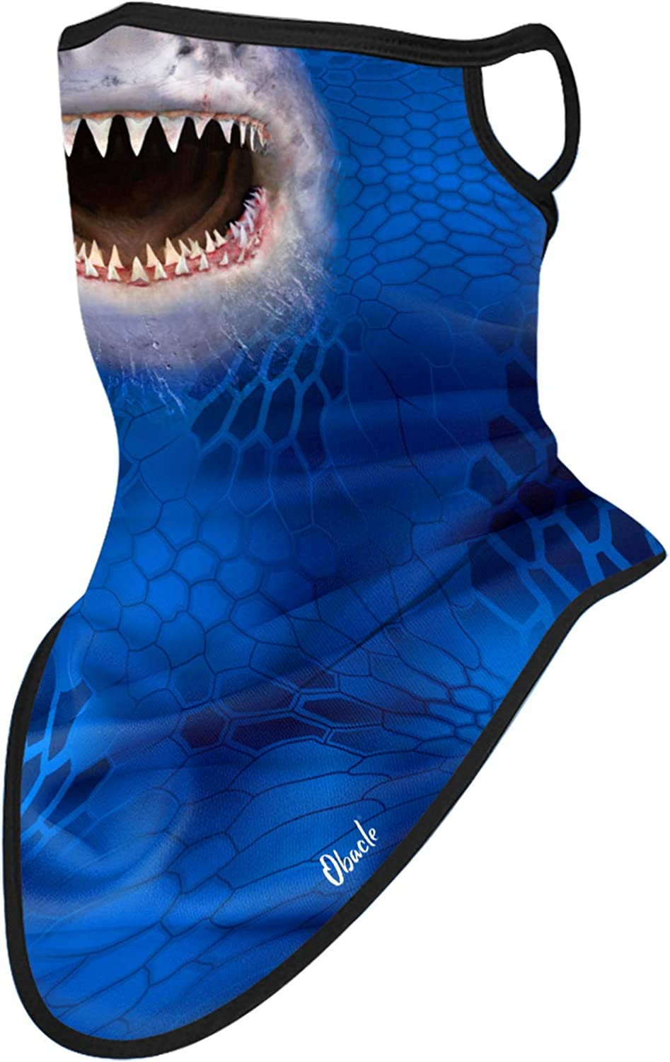Obacle Bandana Face Mask with Ear Loops Neck Gaiter Face Mask Scarf Face Cover for Men Women