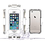 DBIT iPhone SE Waterproof Case - Dust Proof Snow Proof Shock Proof Case - Clear Screen Protector Cover - High Quality IP68 Fully Sealed Protective Case for Apple iPhone SE iPhone 5/5s - White