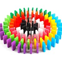 Kiwilon Dominoes Blocks 100 Pieces Wooden Domino Game Set for Kids