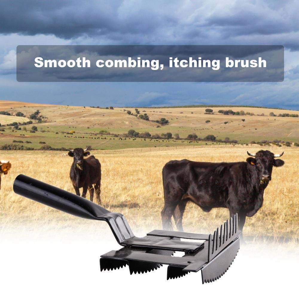 Sheep Cow Goat Womdee Upgraded Grooming Brush for Cattle Cattle and Farm Animals Stainless Steel /& Double-Sided Design Comb Livestock Shedding Comb