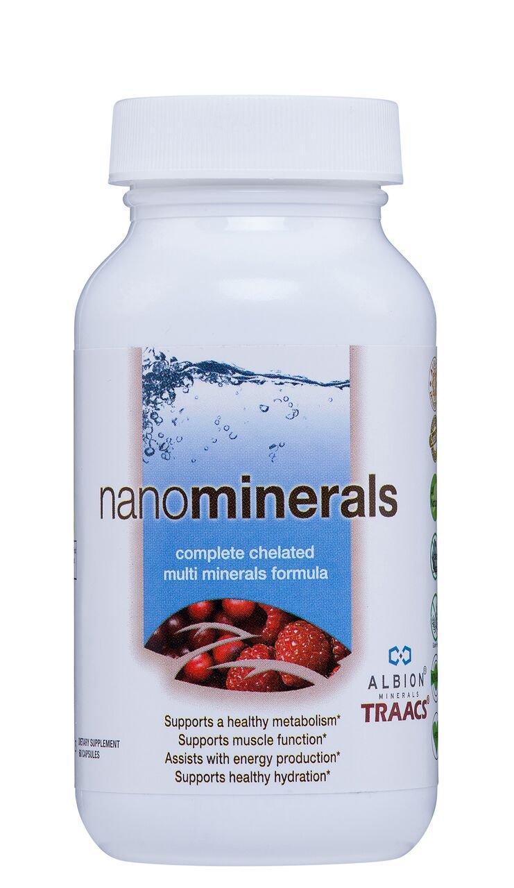 Biopharma Scientific NanoMinerals Complete Chelated Multi-Mineral Capsules 30 Servings Calcium, Iron, Magnesium, Zinc, Potassium, Manganese, Chromium, Copper