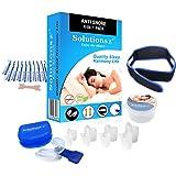 Kit completo [4 en 1] anti ronquidos Solutions ZZZ - Férula + dilatador nasal
