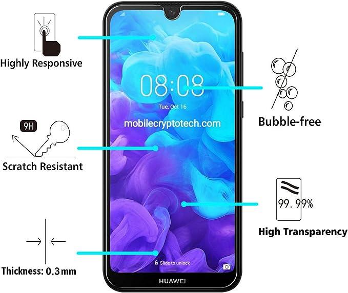 Duret/é 9H Protection en Verre Tremp/é /Écran pour Huawei Y5 2018 Bear Village/® Verre Tremp/é pour Huawei Y5 2018 3 Pi/èces Sans Bulle Sans Poussi/ère