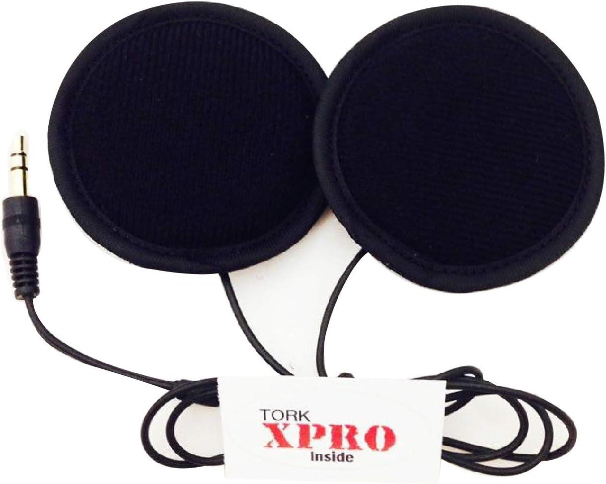 Tork X-Pro Motorcycle Helmet Speakers with Volume Control