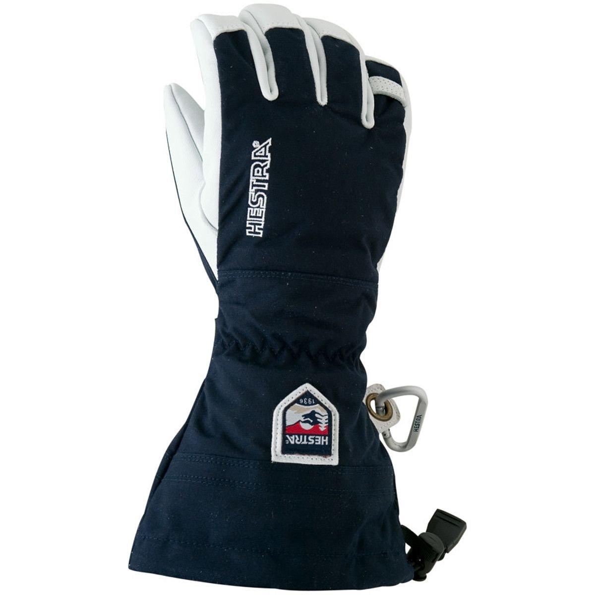Hestra Army Leather Heli Ski Gloves, Navy, 9