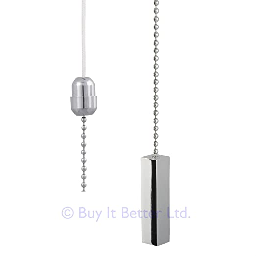 Bathroom light pull chain polished chrome square bar chrome bathroom light pull chain polished chrome square bar chrome chain 56mm x 11mm aloadofball Gallery