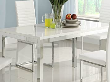 Homelegance Clarice Chrome Dining Table