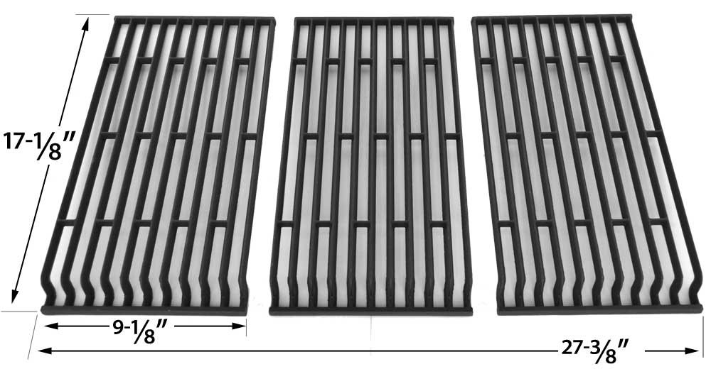 Matte Cast Iron Cooking Grid For Fiesta FG500057-103, FGF50057, FGF50069-103, FGF50069-U40 Gas Grill Models, Set of 3 bbqGrillParts
