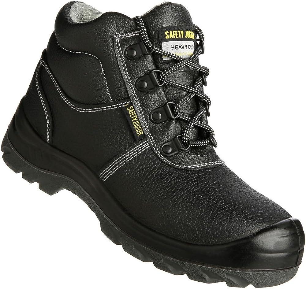 Safety Jogger BESTBOY - Zapatillas de caña alta de cuero unisex