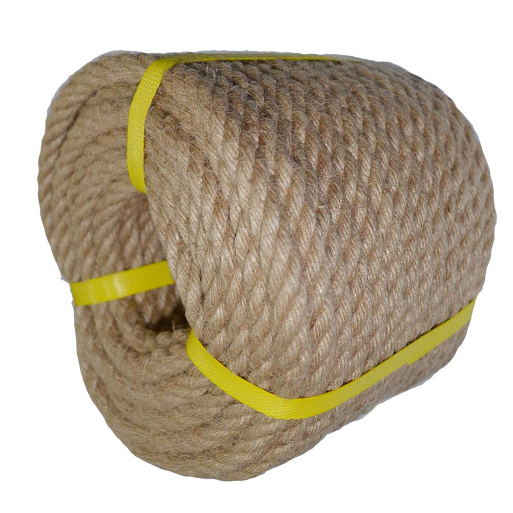 for DIY Crafts Gardening Decorating Brown Natural Rope 1//2 in x 50 ft Twisted Jute Rope Hemp Rope