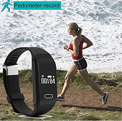 Pashion Fitness Tracker Bluetooth Smart Bracelet smart band with Heart Rate Calling/Messages/Sleep Quality/Running/Sports Monitor Waterproof Touch Screen Wristband for Android IOS Smartphone