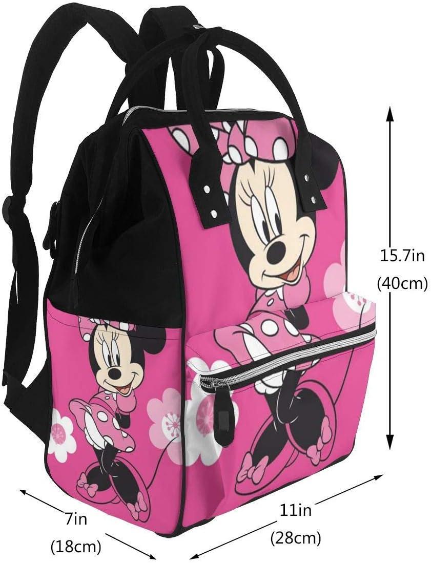 Zaino per borse per pannolini Minnie Mouse con zaino da viaggio impermeabile multifunzionale per fiori Borse per fasciatoio per neonati