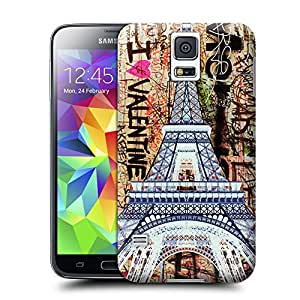 Unique Phone Case Eiffel Tower Fluorescent graffiti Hard Cover for samsung galaxy s5 cases-buythecase