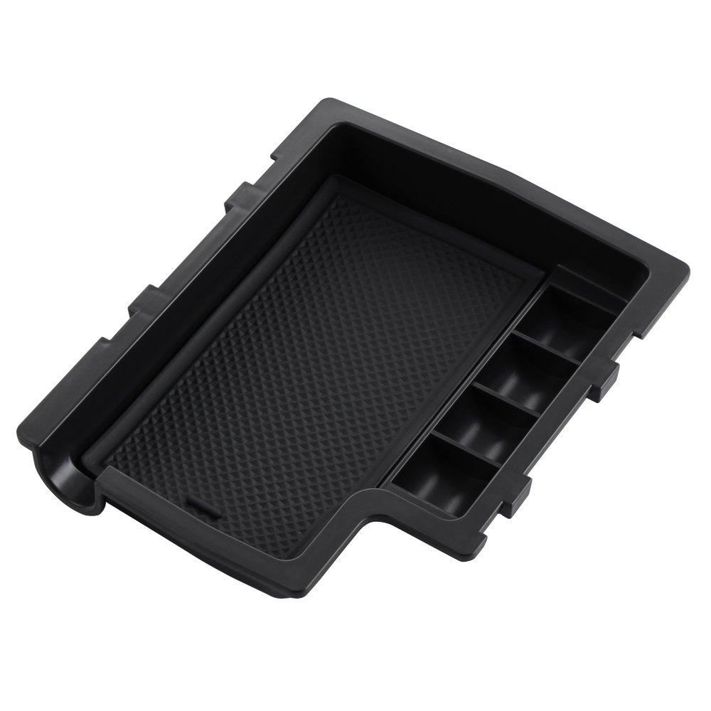 TOPDECO Popular Consola Central reposabrazos Caja de Almacenamiento Organizador con Alfombrilla Antideslizante