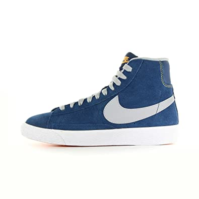 best loved 9c6b9 bbee0 NIKE Blazer mid Vintage (GS) hi top Trainers 539929 Sneakers Shoes (UK 5 US  5.5Y EU 38, Brave Blue wollf Grey White Laser Orange 408)  Amazon.co.uk   Shoes   ...