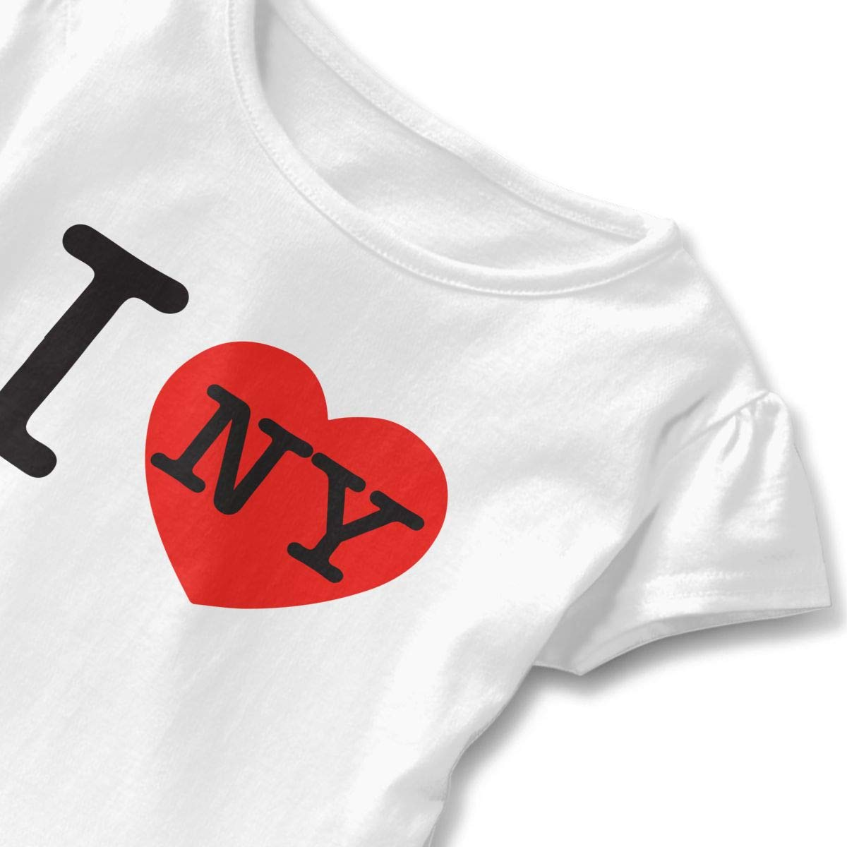 Little Girls I Love NY Funny Short Sleeve Cotton T Shirts Basic Tops Tee Clothes