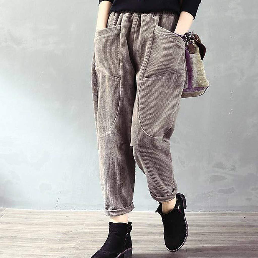 Gugavivid Pantalones de Pana cálidos Gruesos de Invierno para ...