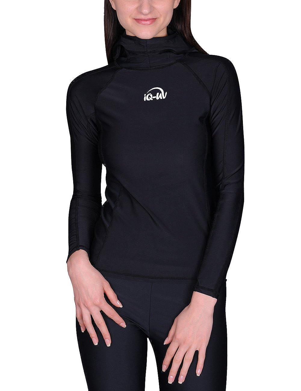 TALLA XS. iQ-Company UV 300 - Blusa de manga larga con capucha