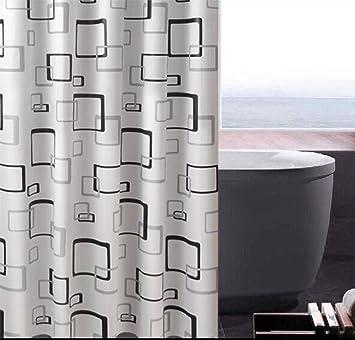 A prueba de agua de ducha de plástico cortina de bloques baño puertas persianas  cortina aseo 86499e58daae