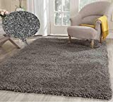 Cheap Soft Indoor Modern Shag Area Smooth Rugs Fluffy Rugs Anti-Skid Shaggy Area Rug Dinning Room Home Bedroom Carpet Floor Mat 8- Feet By 10- Feet (Grey) – (Popcorn Gray Grey)
