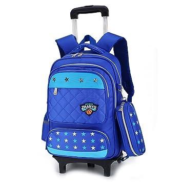 c4de9074c0 Cadeaux Rentrée Scolaire Trolley Bag Sac à Dos avec roulettes Cartable  Roulette Bagages Cabine Loisir Voyage