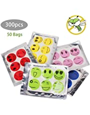 60/300pcs Mosquito Repellent Smiley Patch Stickers,Mosquito and Bug Repellent Patches,Mosquito Repellent Patches,24-Hour Effective Protection 100 All Natural Ingredients Non-Toxic,Resealable