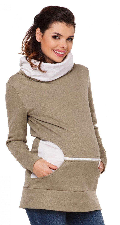 Zeta Ville - Sudadera de lactancia 2 en 1 cuello desbocado - para mujer - 073c nursing_top_073