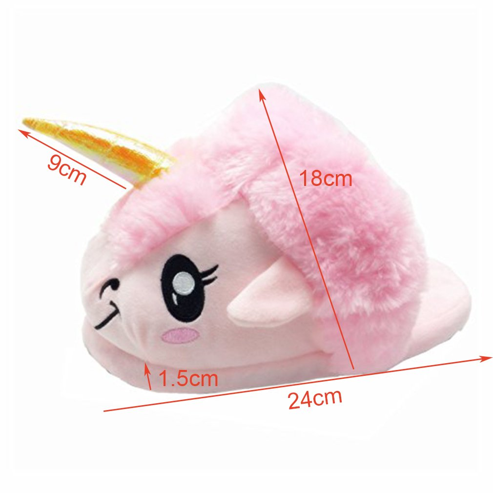 Spiritup Kids Cute Plush Unicorn House Slippers Anti Slip Loafers by Spiritup (Image #4)