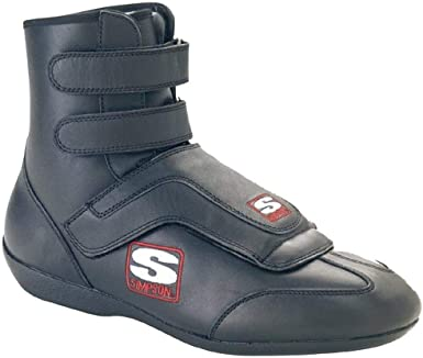 Simpson Racing AD100BK Adrenaline Black Size 10 SFI Approved Driving Shoes