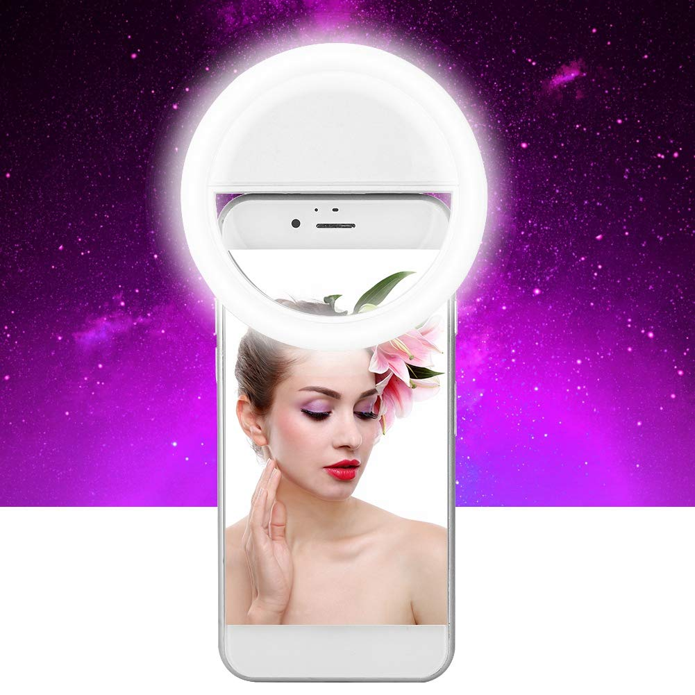 Luminoso para el Uso de USB Selfie L/ámpara Port/átil con Luz LED para Tel/éfono Azul L/ámpara Luminosa de Clip ASHATA L/ámpara Selfie Movil