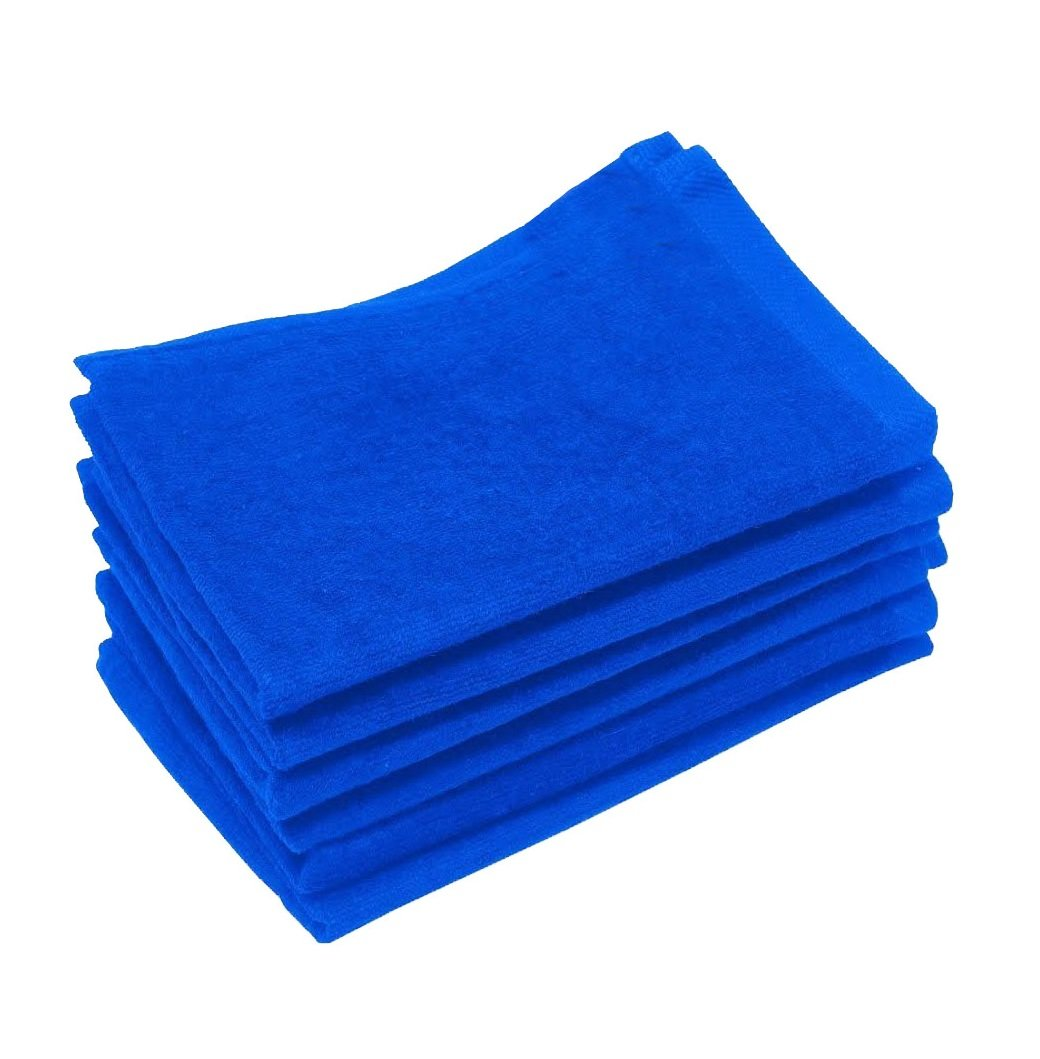 100 Piece-Royal Color -Eco Online Market Great Deal ,Hand Towels, 100% Cotton, Multipurpose Use for Hand, Face, Golf, Ideal for everyday use - Easy care (100, Royal)