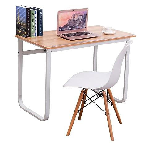 Emall Life Escritorio para ordenador sencillo y elegante, altura ajustable (72 – 96 cm