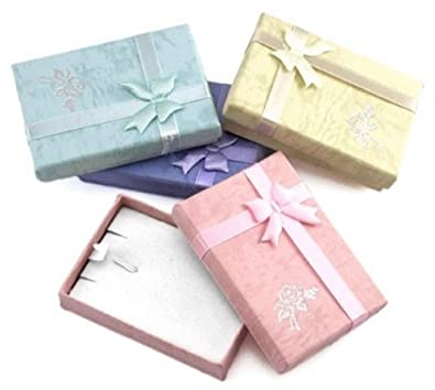 Jewellery Necklace Gift Box Assorted Colours x 40 Wholesale ...