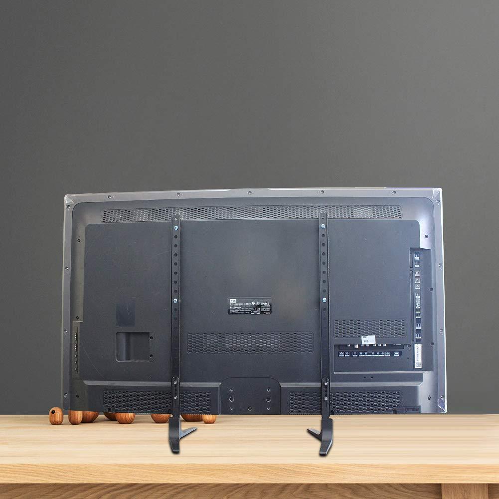 Supporto Piano Tavolo Piedistallo Universale per TV da 32 a 55 pollici,LCD A Schermo Piatto Con Altezza Regolabile