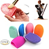 Imixshop Pack of 2 Cleaning Makeup Brush Silicone Glove Scrubber Board Cosmetic Clean Tools Brush Egg