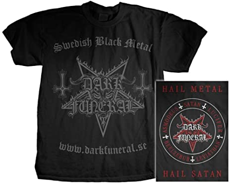 Amazon.com: Dark Funeral - Swedish Death Metal T-Shirt: Music Fan ...