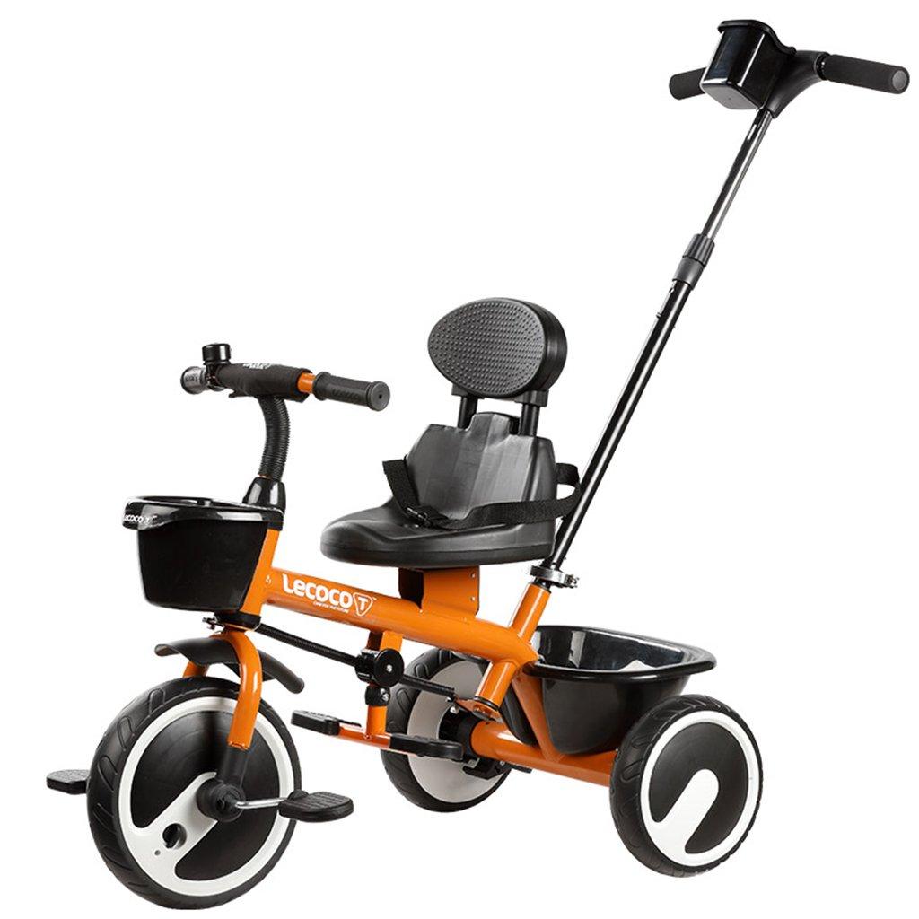 XQ 子供の三輪車の自転車キッズバイク3-6歳のパターのシートベルトは強い 子ども用自転車 ( 色 : オレンジ ) B07CGHP94B オレンジ オレンジ