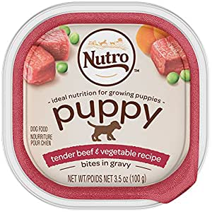 NUTRO PUPPY Tender Beef & Vegetable recipe Cuts in Gravy